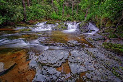 Northeastern Photograph - Dingmans Creek II by Rick Berk