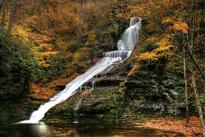 Photograph - Dingmans Falls - Dingmans Ferry P A by Allen Beatty