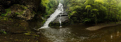 Photograph - Dingmans Falls Panoramic by Mark Robert Rogers