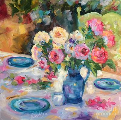Painting - Dining Alfresco by Patsy Walton