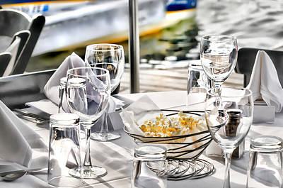 Photograph - Dining Outside by Diana Angstadt