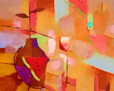 Melons Painting - Dining Impression by Lutz Baar