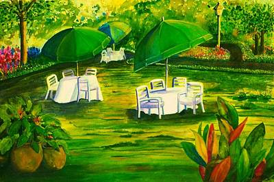 Dining In The Park Art Print