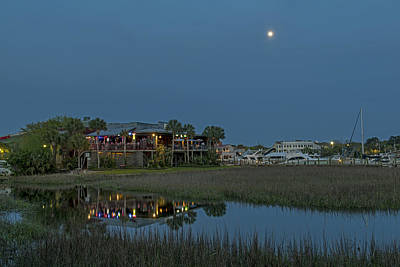 Photograph - Dining Under The Moon Light Skies  Charleston Sc by Willie Harper