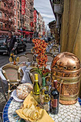 Table Wine Photograph - Dining Outside by June Marie Sobrito