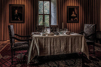 Still Life Photograph - Dining Room In Castle Doorwerth by Tim Abeln
