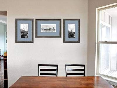 Photograph - Dining Room With Black And White Nautical Images by Dorothy Berry-Lound