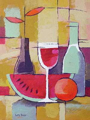 Painting - Dining Still Life Painting by Lutz Baar