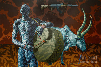 Dinka Painting - Dinka Boy by Stephen Hall