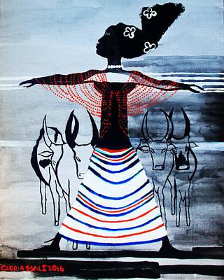 Dinka Corset - South Sudan Art Print