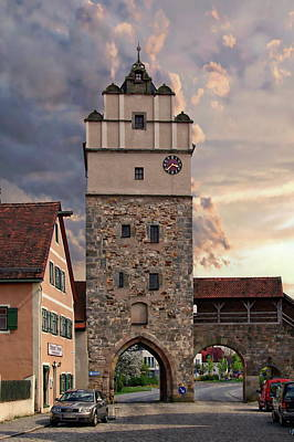 Photograph - Dinkelsbuhl Nordling Gate by Anthony Dezenzio