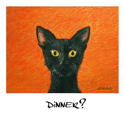 Painting - Dinner? 2 by Marna Edwards Flavell