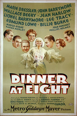At Poster Mixed Media - Dinner At Eight 1933 by M G M