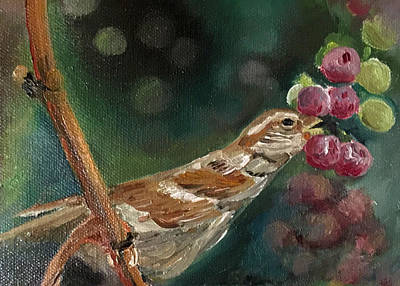 Painting - Dinner At The Vineyard by Jan Dappen
