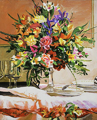 Painting - Dinner Buffet Floral by David Lloyd Glover