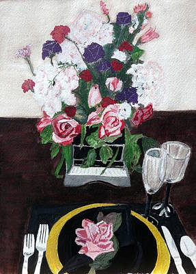 Painting - Dinner For One by Cathy Jourdan