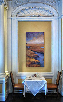 Photograph - Dinner For Two At The Pink House by Dave Mills