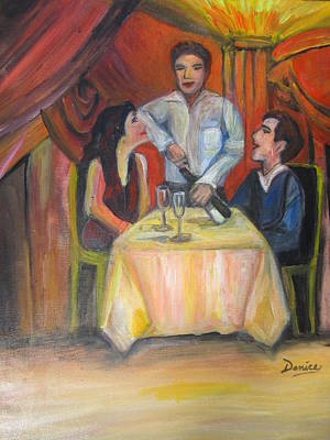 Dinner For Two Art Print by Denice Palanuk Wilson