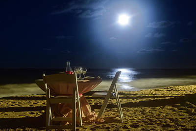 Photograph - Dinner For Two In The Moonlight by Nicole Lewis