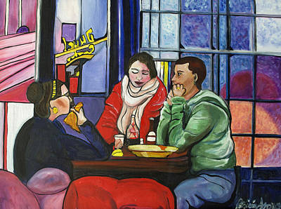 Dinner In Dam Art Print by Patricia Arroyo
