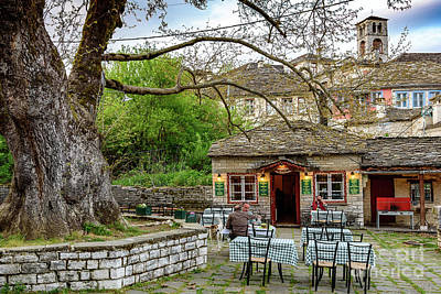 Photograph - Dinner In Dilofo, Zagori, Greece by Global Light Photography - Nicole Leffer