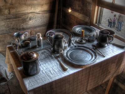 Log Cabins Photograph - Dinner Is Served by Jane Linders