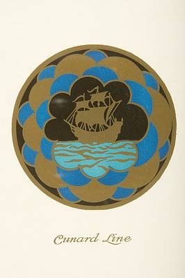 Dinner Menu. Cunard Line. R.m.s Art Print by Vintage Design Pics