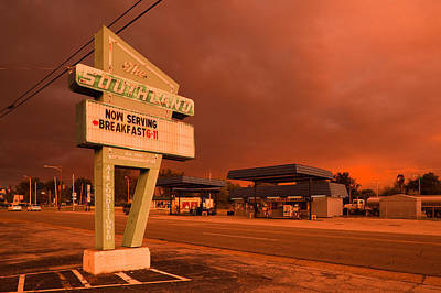 Dinner Sign At The Roadside, The Art Print by Panoramic Images