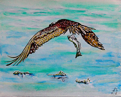 Sea Birds Painting - Dinner by W Gilroy
