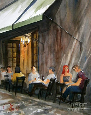 Painting - Dinning L'fresco by Gerald Miraldi