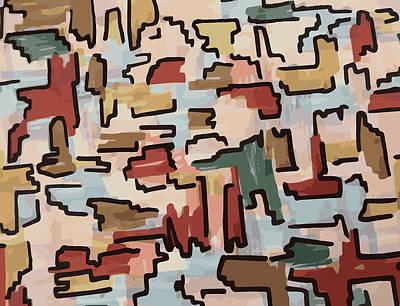 Dino Pattern Art Print