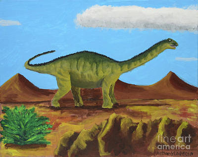 Painting - Dino Roams by Artists With Autism Inc