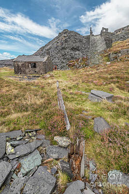 Dilapidated Digital Art - Dinorwic Quarry Ruins by Adrian Evans