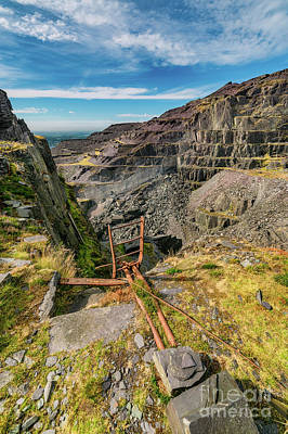 Photograph - Dinorwic Slate Quarry  by Adrian Evans
