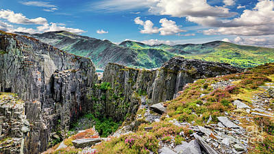 Photograph - Dinorwic Slate Quarry Snowdon by Adrian Evans