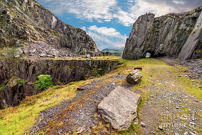 Photograph - Dinorwic Slate Quarry Snowdonia by Adrian Evans