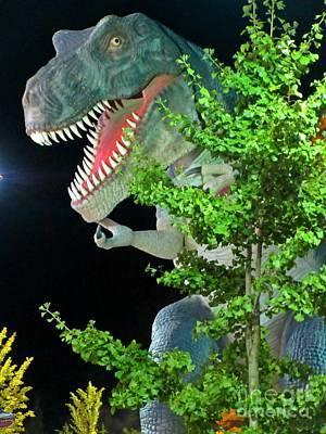 Dinosaur At Night Original by Crystal Loppie