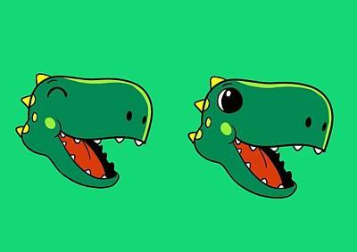 Dinosaur Emoji Heads Original