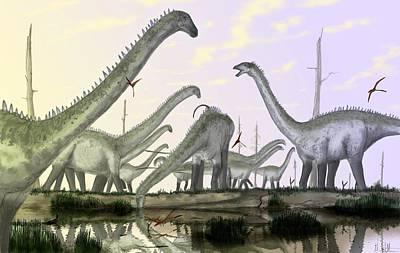 Digital Art - Dinosaur by Maye Loeser
