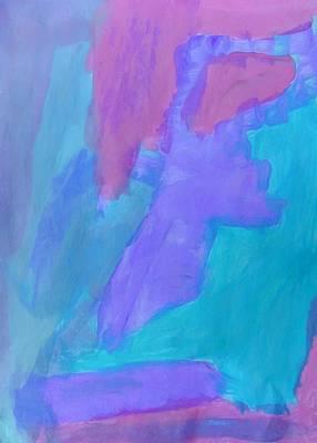 Painting - Dinosaur Swimming - Aerial View by Nikolyn McDonald