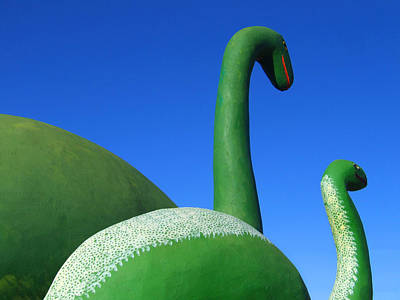 Playful Digital Art - Dinosaur Walk  by Mike McGlothlen