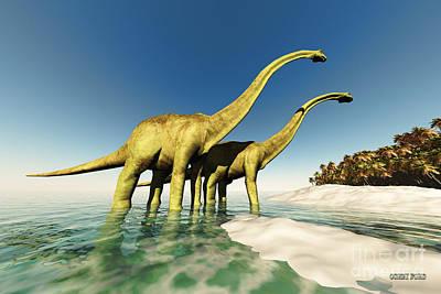 Dinosaur World Print by Corey Ford