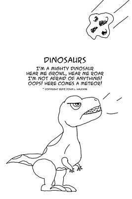 Drawing - Dinosaurs by John Haldane