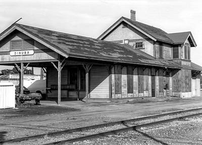 Photograph - Dinuba Railroad Depot by Gene Parks