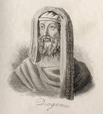 Diogenes Drawing - Diogenes Of Sinope, D. C.320 Bc. Greek by Vintage Design Pics