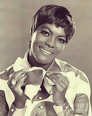 Music Royalty-Free and Rights-Managed Images - Dionne Warwick, Music Legend by Esoterica Art Agency