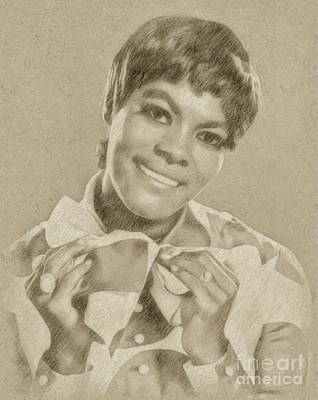Singer Drawing - Dionne Warwick, Singer by Frank Falcon