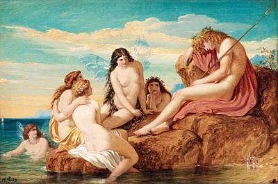Joseph Noel Paton Painting - Dionysus And Sea Nymphs by Joseph Noel Paton