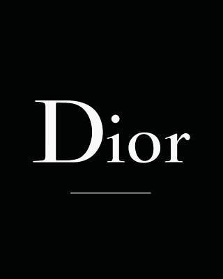Noir Digital Art - Dior - Black And White by Alta Vita