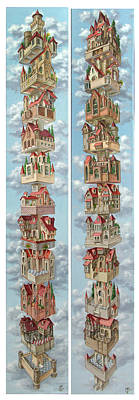 Diptych Air Castles Art Print